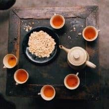 Loose tea samples